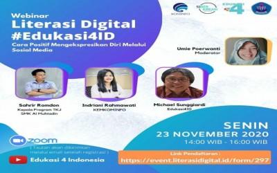 KIAT SUKSES BERSOSIAL MEDIA SECARA POSITIF MELALUI WEBINAR LITERASI DIGITAL #EDUKASI4ID